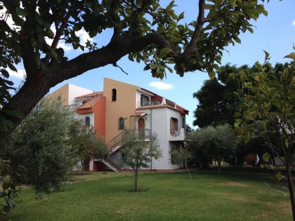 Территория отеля, похожая на сад
