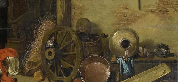 Хендрик Потьюл, Семья у огня в амбаре, фрагмент «Лошадь»