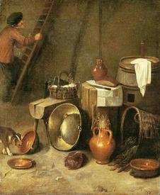 Хендрик Потьюл, Натюрморт в амбаре, 77х65 см, Rijrsmuseum, Антверпен, Нидерланды