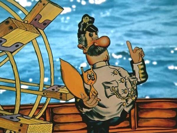 Хитроумный капитан Врунгель из сказки А. Некрасова умудрился использовать талант белок в морском деле, заставив их вращать пароходное колесо.