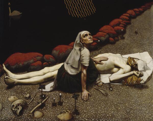 Алекси Галлен-Каллела. Мать Лемминкяйнена. 1897