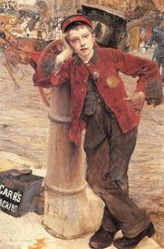 Жюль Бастьен Лепаж, Лондонский чистильщик, 132х89 см, 1882, Музей дОрсе, Франция