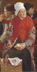 Кабалье Лассаль Камил Леопольд, В железнодорожном вагоне, фрагмент «Старушка»