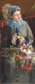 Кабалье Лассаль Камил Леопольд, В железнодорожном вагоне, фрагмент «Девушка»