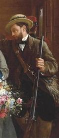 Кабалье Лассаль Камил Леопольд, В железнодорожном вагоне, фрагмент «Охотник»