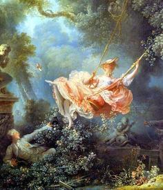 Фрагмент картины Жана Оноре Фрагонара «Счастливые возможности качелей» (1766).