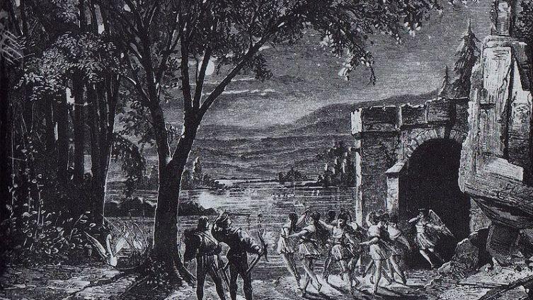 Эскиз декорации к первой постановке балета «Лебединое озеро» в 1877 году