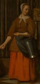 Питер де Хох, Женщина, ребенок и служанка, фрагмент «Служанка»