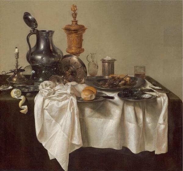 Виллем Клас Хеда, Банкет с мясным пирогом, 1635,  106х111 см, Национальная галерея искусств, Вашингтон, США