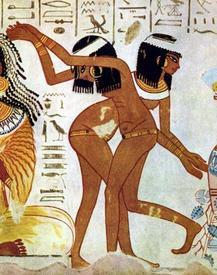Древнеегипетские танцовшицы.