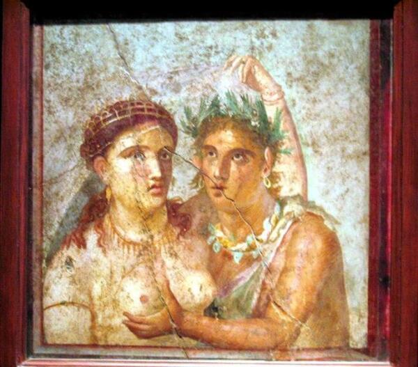 Фреска римского города Помпеи.