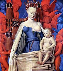 Жан Фуке изобразил Агнессу Сорель в образе Мадонны. 1450.