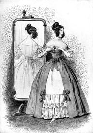 Светские барышни 1820-30-х годов красовались тонкой талией и оголенными плечами.