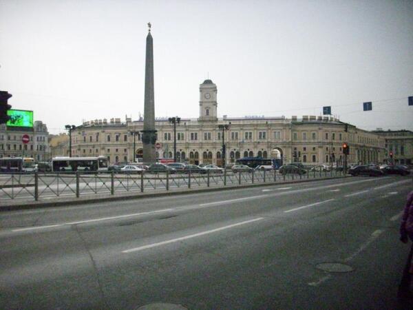 Вид на Московский вокзал.