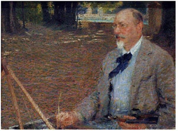 Джакомо Балла, портрет художника  Этторе Розлер Франца, 1903 год