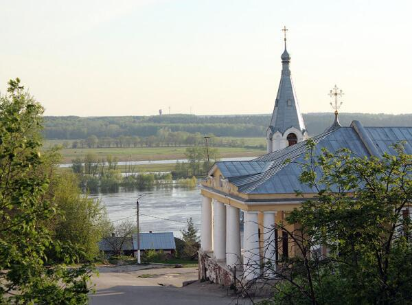 Касимов. Вид на Оку и здание торговых рядов