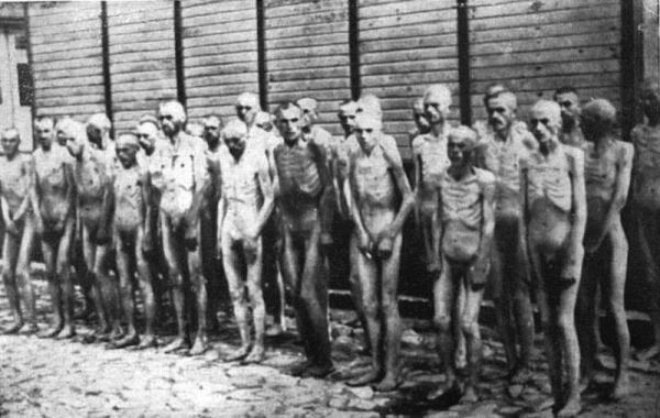 Советские военнопленные в лагере Маутхаузен
