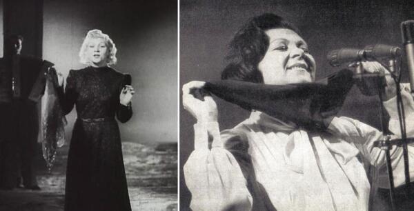 Синий платочек стал неотъемлемой частью сценического образа К. Шульженко.