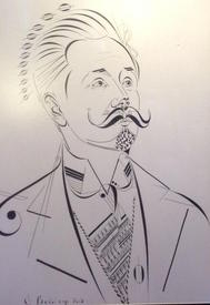 Портрет А.Н. Скрябина из нотных знаков