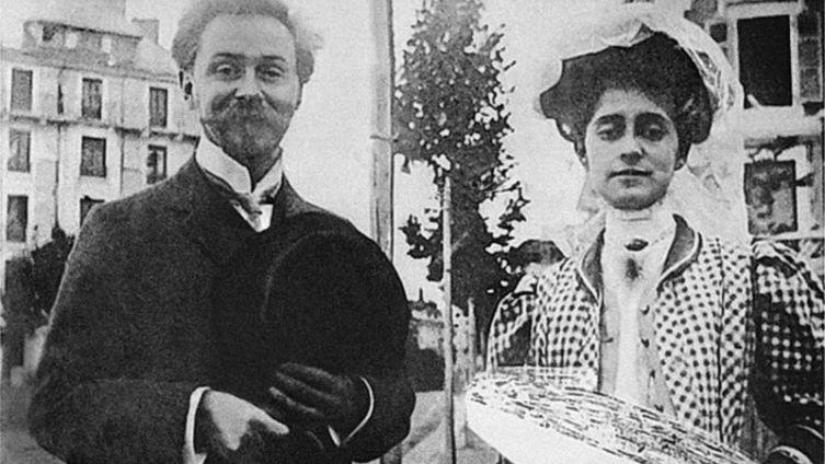 Скрябин с Татьяной Шлёцер, 1909
