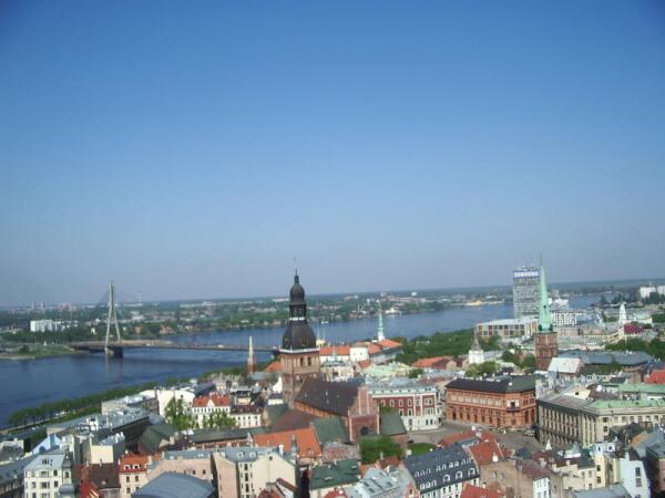 Вид на старый город с башни Cвятого Петра
