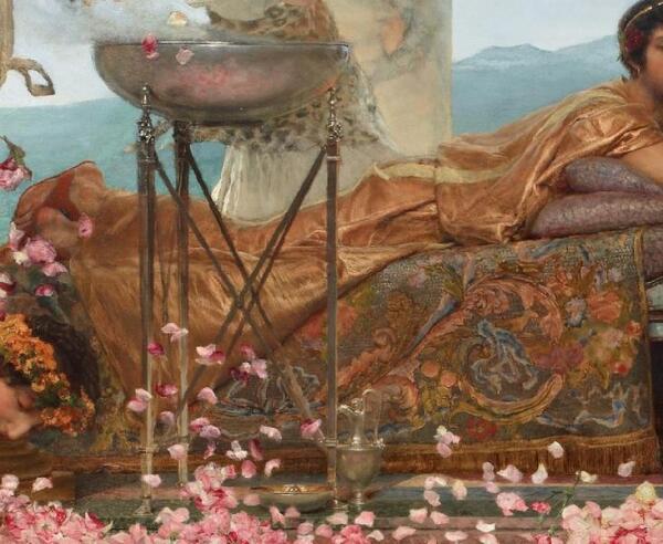 Альма-Тадема сэр Лоуренс, Розы Гелиогабала, фрагмент «Курильница»