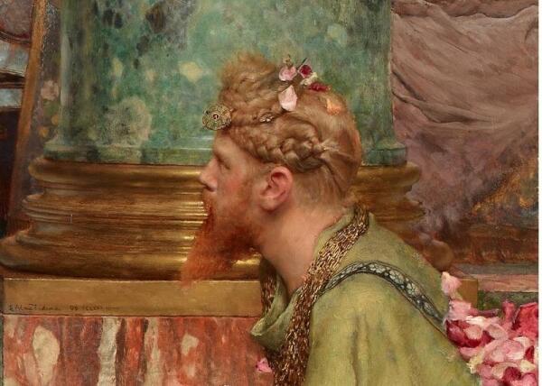 Альма-Тадема сэр Лоуренс, Розы Гелиогабала, фрагмент «Палач»