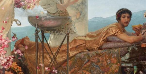 Альма-Тадема сэр Лоуренс, Розы Гелиогабала, фрагмент «Гелиогабал»