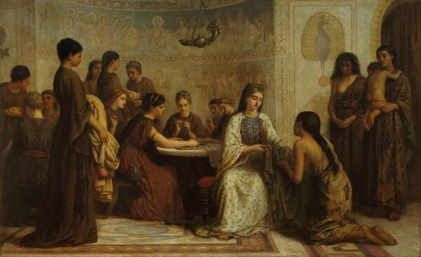 Эдвин Лонг, Собрание Доркас в 6 веке нашей эры, 176х257 см, частное собрание