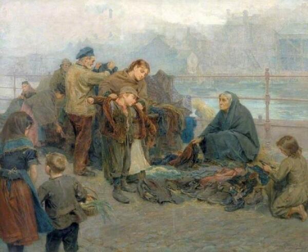 Ральф Хедли, Одежда бедняков, 1898, 97х120 см, Laing Art Gallery, Англия