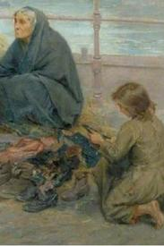 Ральф Хедли, Одежда бедняков, фрагмент «Девочка выбирает обувь»