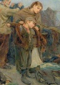 Ральф Хедли, Одежда бедняков, фрагмент «Мама примеряет сыну курточку»