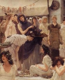 Альма-Тадема сэр Лоуренс, Женщины Амфисы, фрагмент «Питье»