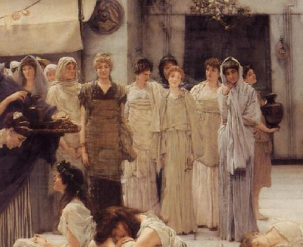 Альма-Тадема сэр Лоуренс, Женщины Амфисы, фрагмент «Женщины»