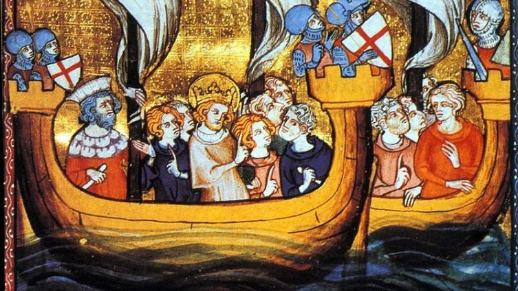 Людовик IX во главе крестоносцев