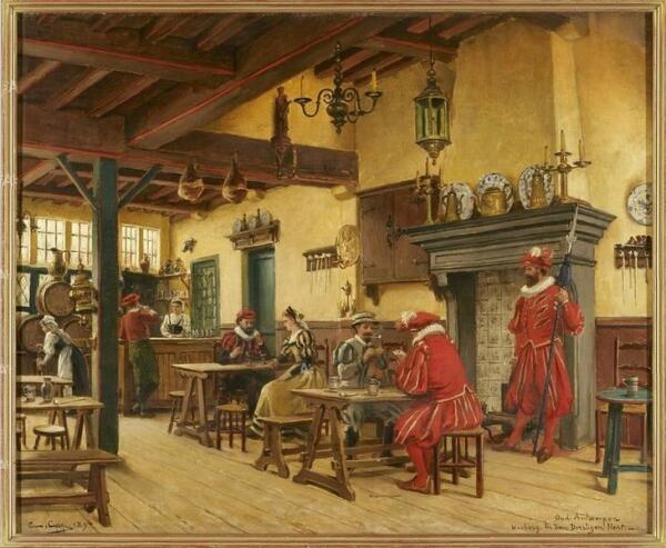 Констан Кэп, Старый постоялый двор «Пьющий олень» в Антверпене, музей Антверпена, Нидерланды