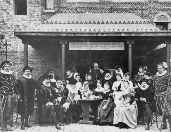 Горожане Антверпена, Фото начала 20 века, государственный архив, Амстердам, Нидерланды
