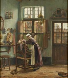 Констан Кэп, 1874 год, Парикмахерская в старом Антверпене, музей Антверпена, Нидерланды
