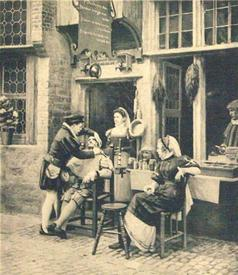 Парикмахерская в Антверпене, фото начала 20 века, государственный архив, Амстердам, Нидерланды