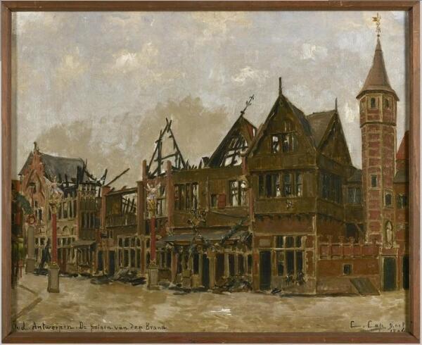 Констан Кэп, Старый Антверпен после пожара, городской музей Антверпена, Нидерланды