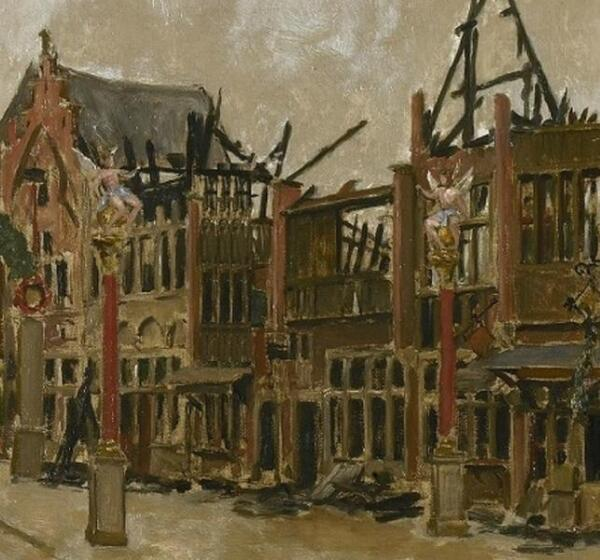 Констан Кэп, Старый Антверпен после пожара, фрагмент «Ангелы»