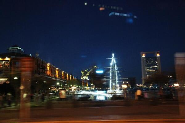 Вечерний Буэнос-Айрес из окна машины
