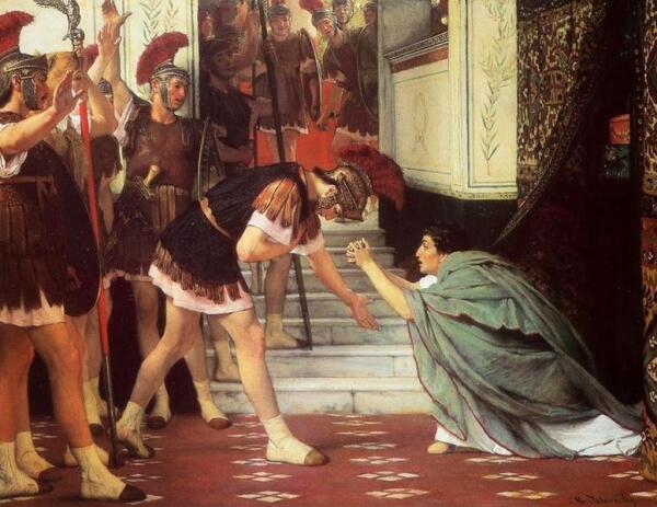 Альма Тадема сэр Лоуренс, Провозглашение Клавдия императором, 1867, частная коллекция