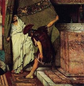 Альма-Тадема сэр Лоуренс, Римский император 41 год н.э, фрагмент «Клавдий»