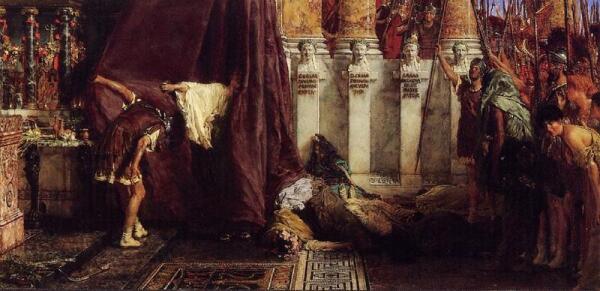 Альма Тадема сэр Лоуренс, Да здравствует император! Ликуй, народ! 1800, Musée d