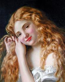 Софи Жанжамбр Андерсо «Девочка, собирающая волосы».