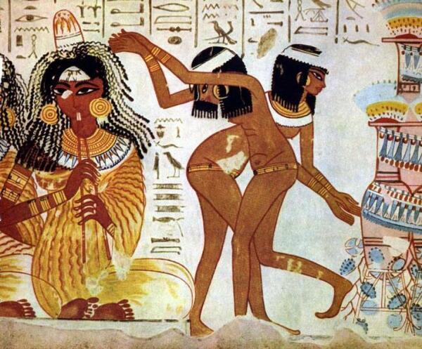 Древнеегипетские танцовщицы.