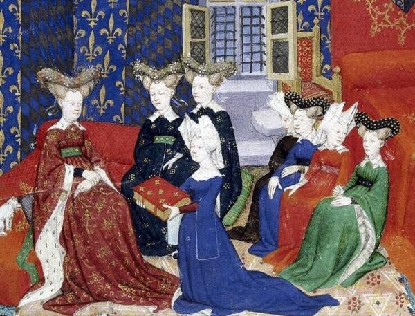 Изабелла Баварская с дамами. 1414 г.