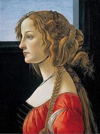 Сандро Ботичелли. Портрет Симонетты Веспуччи. 1476.