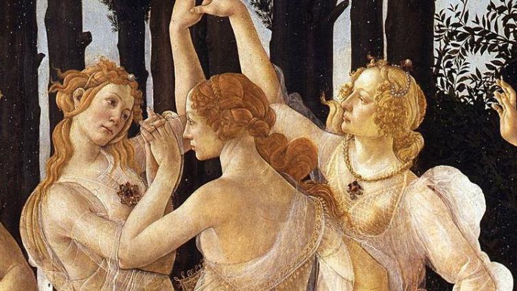 Сандро Ботичелли. Фрагмент картины «Весна». 1482.